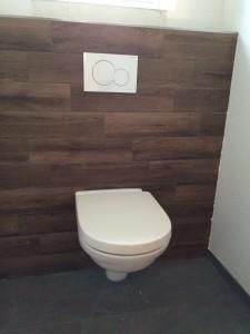 Unsere Toilette im Gäste WC auf der richtigen Höhe